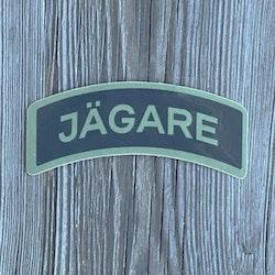 Sticker JÄGARE Green/Black/Green