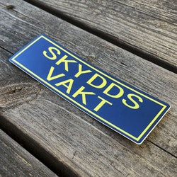 Sticker Skyddsvakt Avlång
