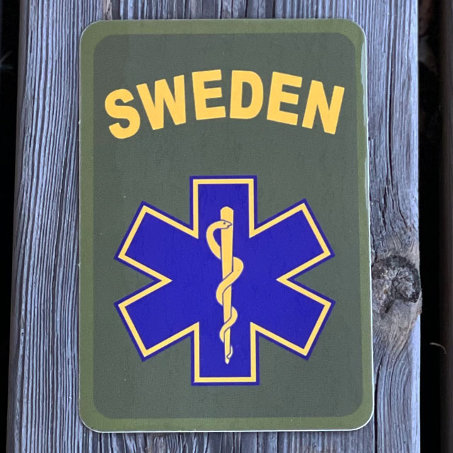 Sticker SWE MEDIC Star seen from the front
