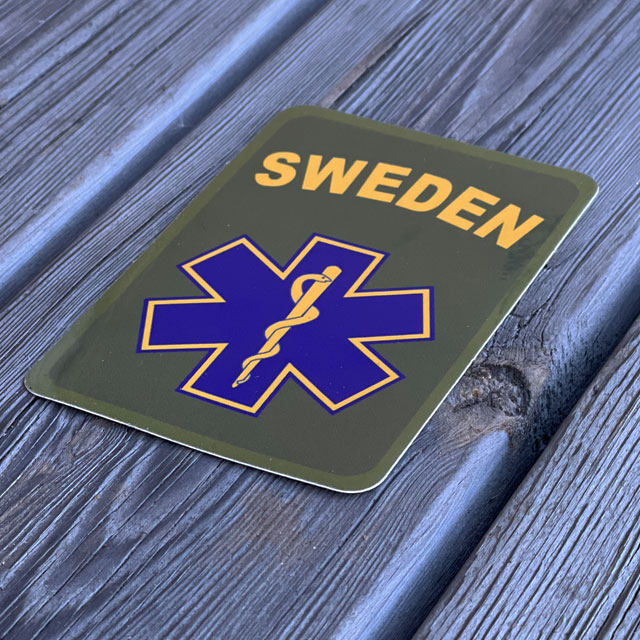 Sticker SWE MEDIC Star seen from an angle