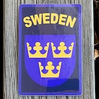 Sticker Sweden Navy Blue