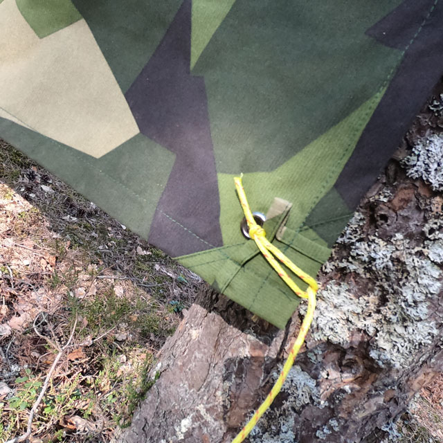 Using the eylets on a Tarp M90 Light
