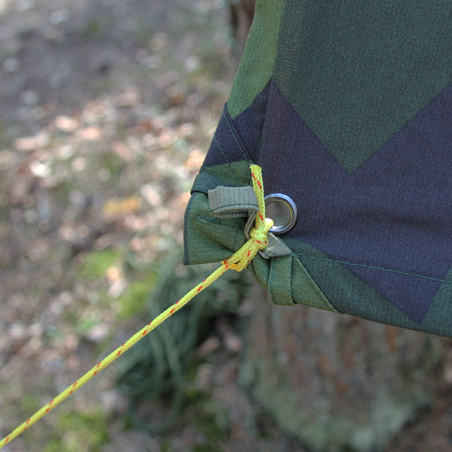 You can use small paracord type string to strighten out your Tarp M90 Light