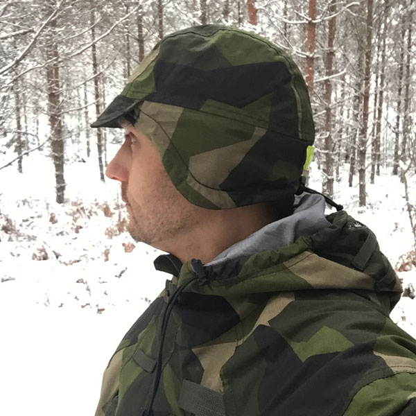 Full ear cover when wearing a Thermal Cap M90.