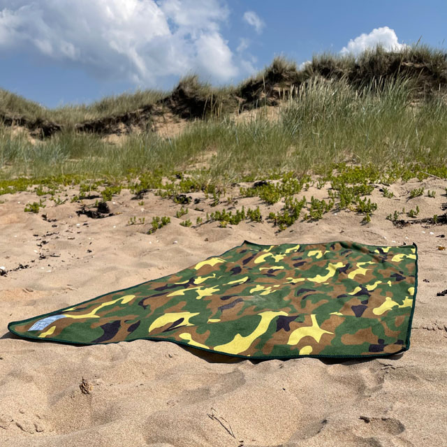 Towel Camouflage from TAC-UP GEAR on beach sand