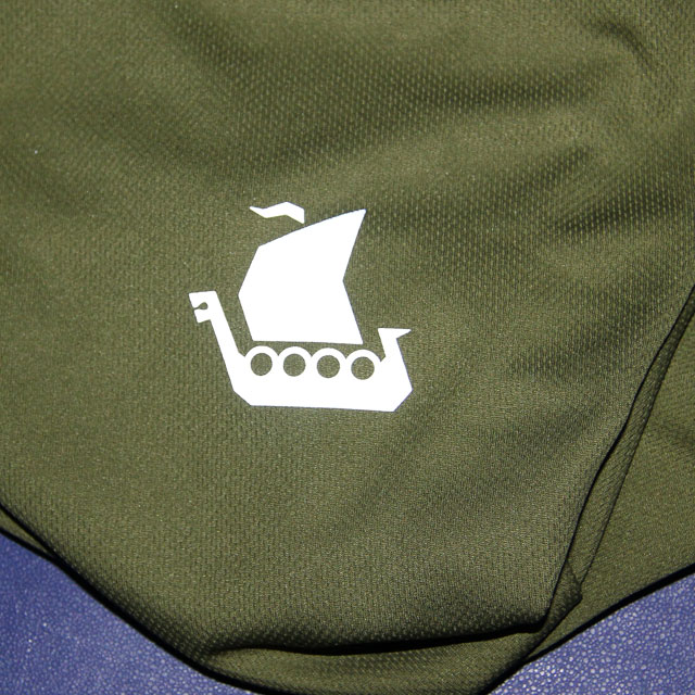 Vikingship logo on a Training T-Shirt Green.