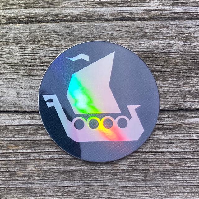 TUG Vikingship Logo Sticker shows prisma like colors