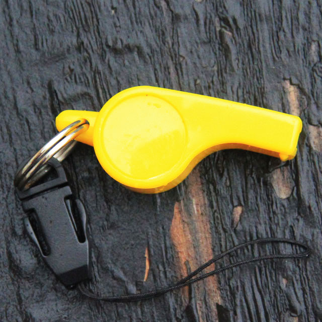 The sideview of a Whistle H.E.L.P.