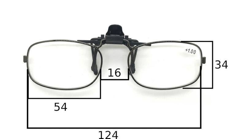 Läsglasögon, Förstoringsglas, Magnifier clip on, flip up +2.5 och 3.0