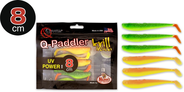 Gummijigg, Q-Paddler, 6-pack