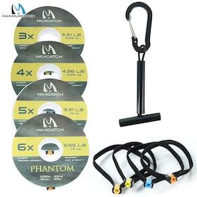 Hållare för tafsmaterial, (Tippet holder) inkl. 50 meter 2X - 7X