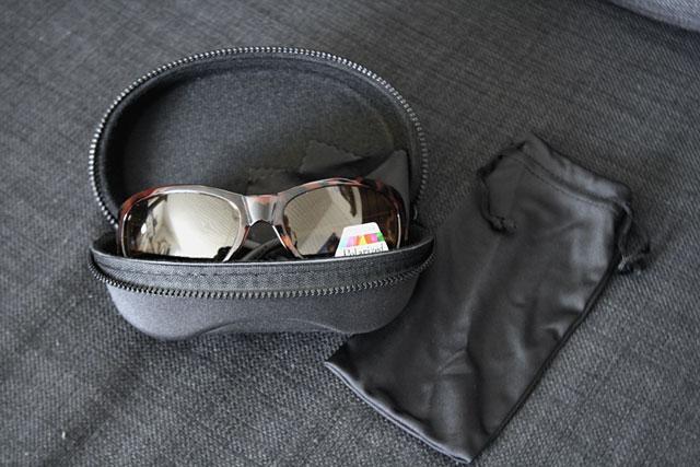 Solglasögon, gula, polariserande