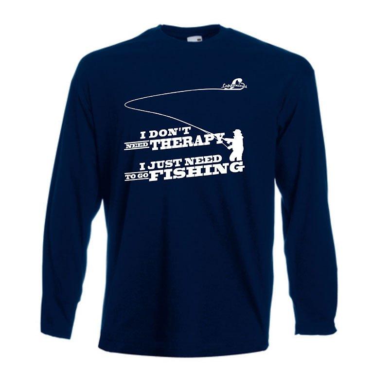 Långärmad tröja med flugfisketryck
