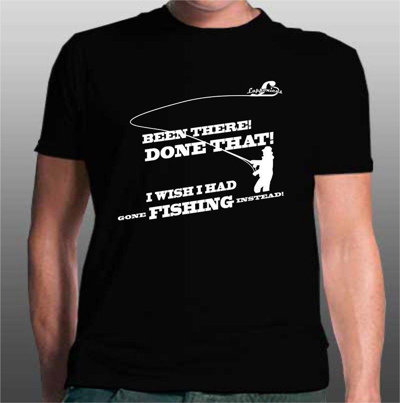 T-shirt med flugfisketryck