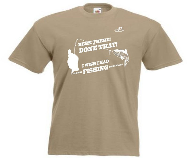 T-shirt med spinnfisketryck