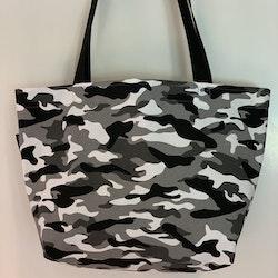 Shoppingkasse camo svart/grå
