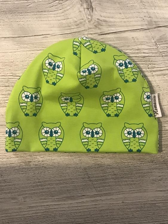 Mössa Vuxen - uggla grön