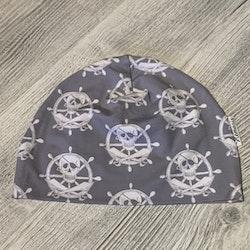 Mössa Vuxen - Grå pirat