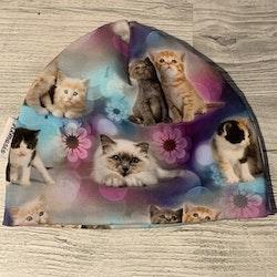 Mössa Barn 1-5 år - Katter lila