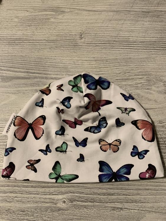 Mössa Barn/Ungdom 6-14 år - Fjärilar