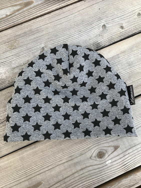 Mössa Barn/Ungdom 6-14 år - Grå m stjärnor