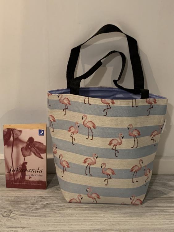 Kasse medium flamingo