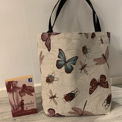 Kasse stor fjärilar/insekter och trollsländor