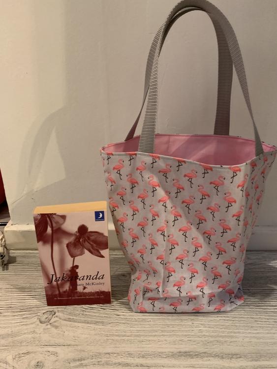Kasse medium med flamingos