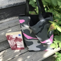 Kasse medium camo grå/rosa