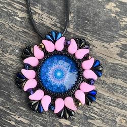 Hänge Paifire pendant rosa/blå