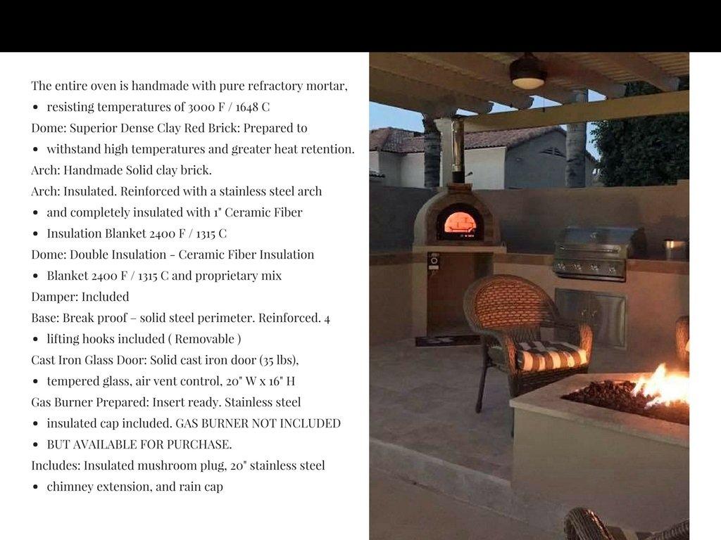 120 Pizzaugn dubbelisolerad proffsugn vedeldad eller till gas