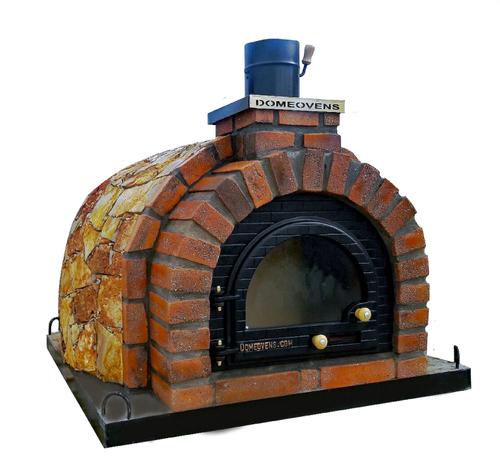 90 cm Pizzaugn dubbelisolerad proffsugn vedeldad eller till gas med natursten