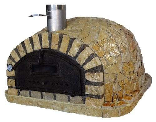 Pizzaugn vedeldad 100 x 100 cm natursten