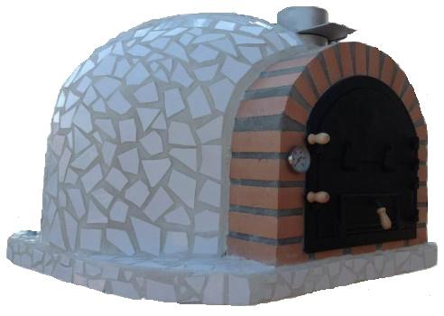 Pizzaugn120 x 120 cm Blå, röd eller vit Isolerad mosaik vedeldad