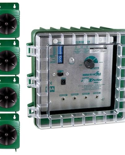 Super BirdXPeller® PRO med 4-högtalarsystem .