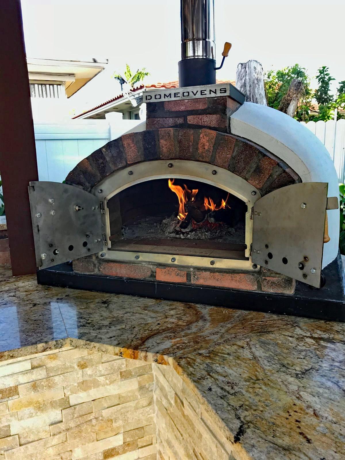 Pizzaugn Franco isolerad 130 cm utan natursten