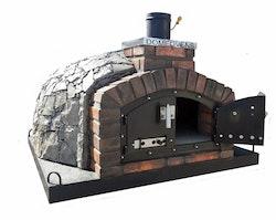 120 cm Pizzaugn Franco dubbeldörr med natursten