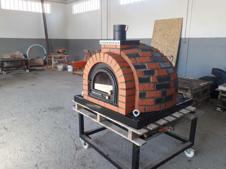 Pizzaugn Tudor med natursten 120 cm
