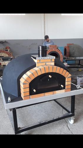 Pizzaugn Franco dubbeldörr utan natursten 120 cm