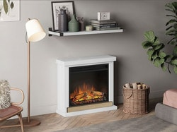 TAGU Hagen Pure white eldstad med värme FM469-WH1-23PF1A