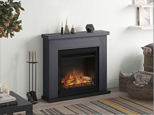 TAGU Frode Ash grey eldstad med värme FM461-GR1-23PF1A
