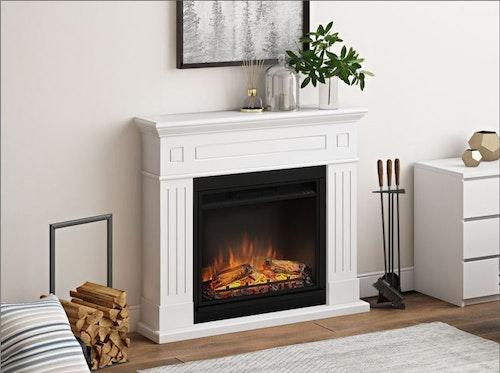 TAGU Larsen Pure white eldstad med värme FM462-WH1-23PF1A