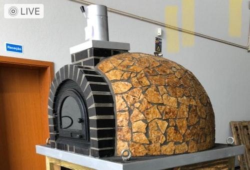 Vedeldad Pizzaugn Modell 16 120 cm Vinterkampanj 29 900kr!