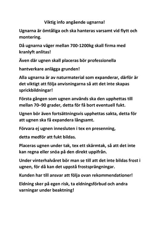 Tilahome.se egna isolerad pizzaugn 100 x 100 cm hämtpris 19900kr