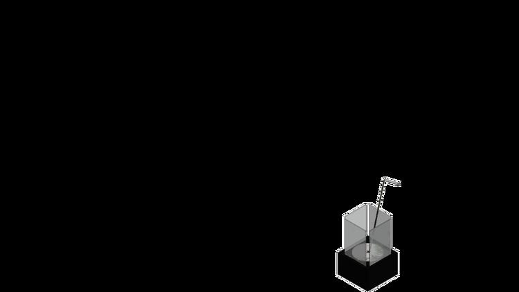 MORA / TÜV, Bords-eld med glas på 4 sidor för säker användning,