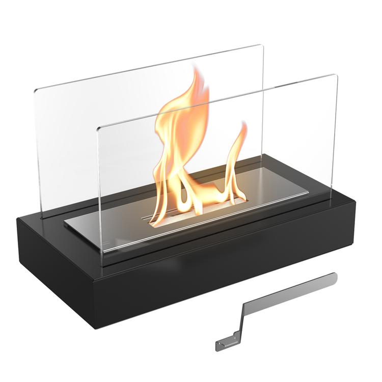 NORRTÄLJE / TÜV, svart fristående bordseld, med avtagbart glas på 2 sidor (inkl frakt!)