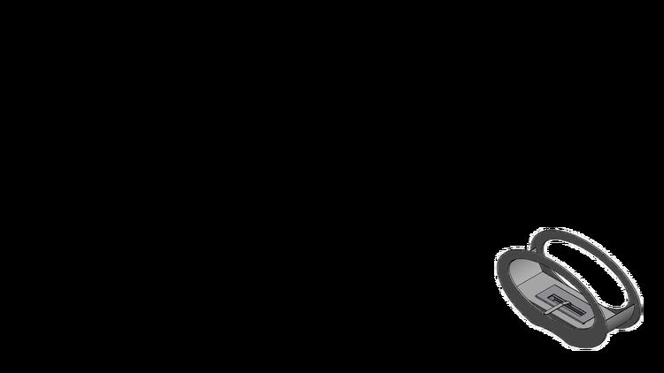 Halmstad, oval svart Bio-eldstad, TÜV, (OBS! Fraktfritt)