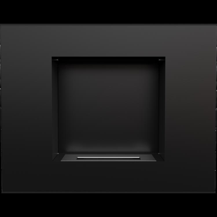 Nacka, svart bioeldstad, 685x534, TÜV (OBS! Fraktfritt)