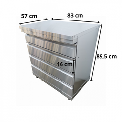 Grillmöbel Omberg, inkl 4 lådor
