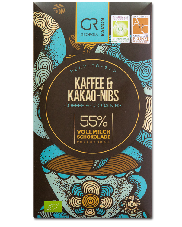 Georgia Ramon - Coffee & Cocoa Nibs (55% Milk)
